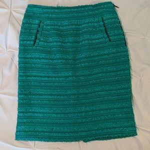 Turquoise Halogen Pencil Skirt